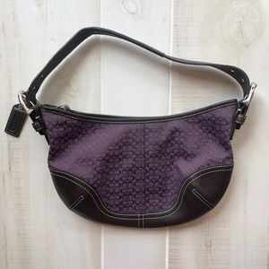 Coach Shoulder Bag, Purple & Brown, EUC